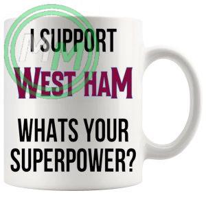 west ham fans superpower mug