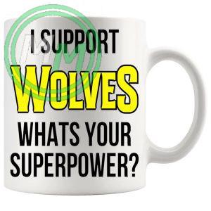 wolves fans superpower mug