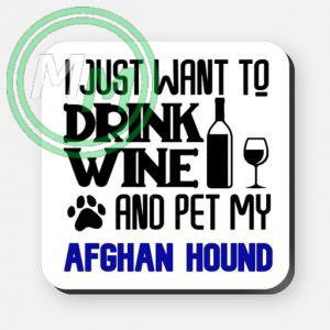 pet my afghan hound coaster blue