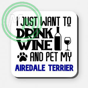 pet my airdale terrier coaster blue