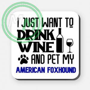 pet my american foxhound coaster blue
