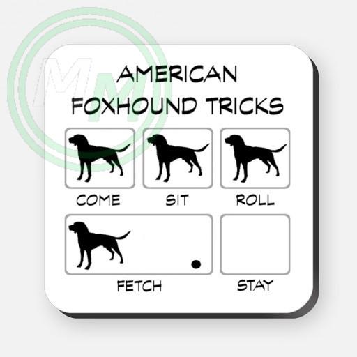 american foxhound tricks coaster