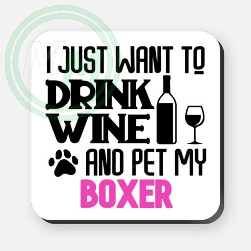 pet my boxer coaster pink