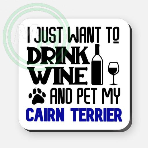 pet my cairn terrier coaster blue