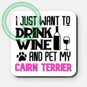 pet my cairn terrier coaster pink