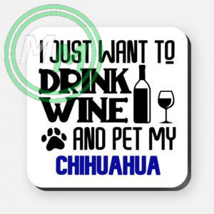 pet my chihuahua coaster blue