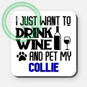 pet my collie coaster blue