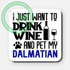 pet my dalmation coaster blue