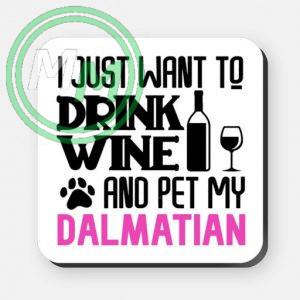 pet my dalmation coaster pink