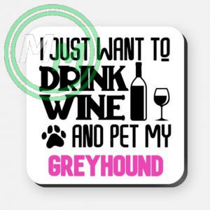 pet my greyhound coaster pink