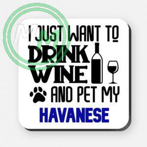 pet my havanese coaster blue