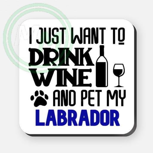 pet my labrador coaster blue