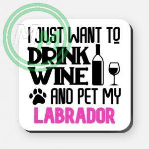 pet my labrador coaster pink