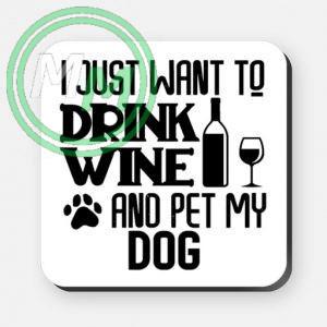 pet my dog coaster