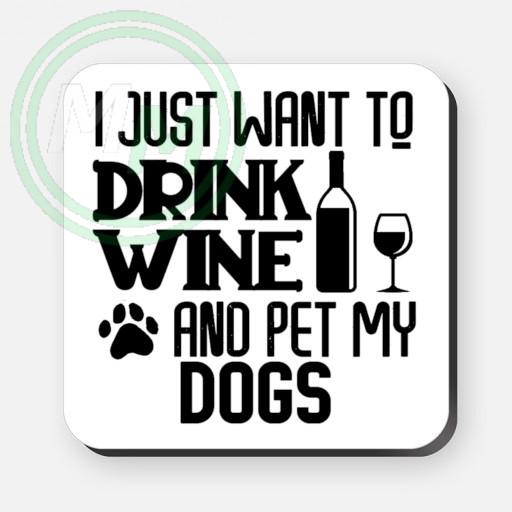 pet my dogs coaster