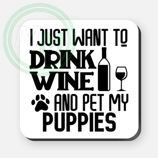 pet my puppies coaster