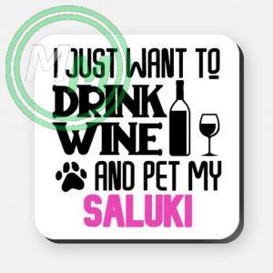 pet my saluki coaster pink