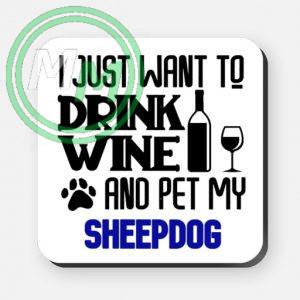 pet my sheepdog coaster blue