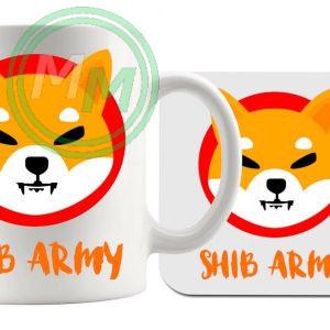 shib army mug and coaster set