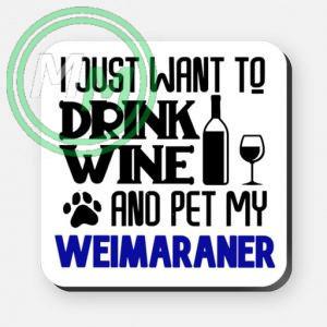 pet my weimaraner coaster blue