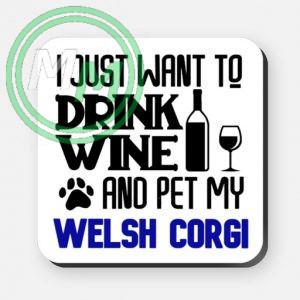 pet my welsh corgi coaster blue