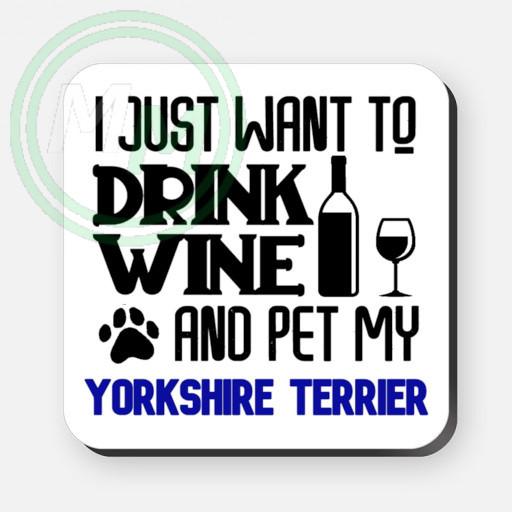 pet my yorkshire terrier coaster blue
