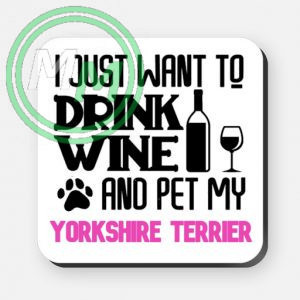 pet my yorkshire terrier coaster pink