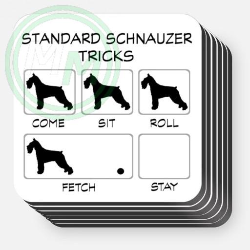 Standard Schnauzer Tricks Coasters 6 pack